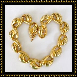 🌺🌴🌺 GOLD TONE STATEMENT NECKLACE 🌺🌴🌺